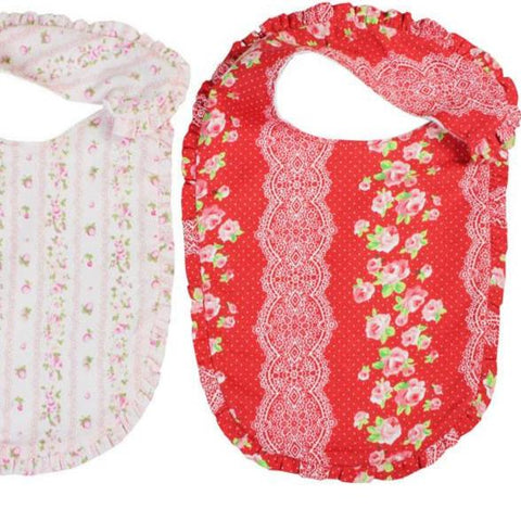 Emma Frill Floral Newborn Baby Bibs Set of Two
