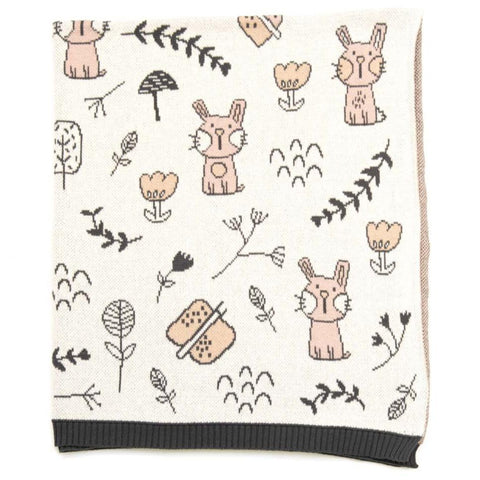 Belle Bunny Cotton Knit Baby Blanket