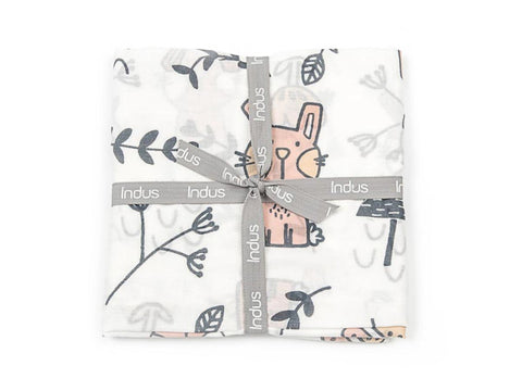 Belle Bunny Indus Design Cotton Swaddle Wrap