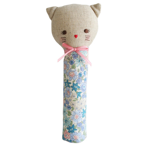 Odette Kitty Cat Liberty Blue  Floral Squeaker Toy