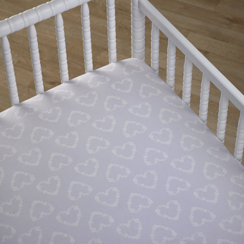 Blooming Hearts Girls Fitted Cot Sheet