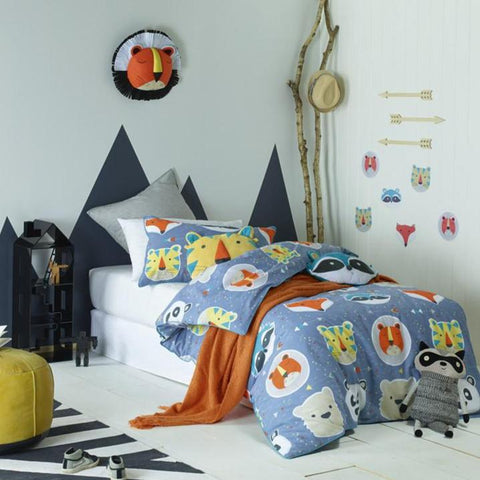 Funny Faces Boys Girls Quilt Cover Set