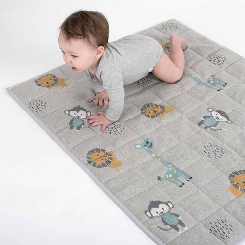 Jungle Friends Baby Play Mat Blanket Quilt