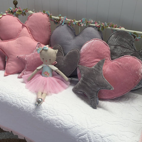 Assorted Heart & Star Shaped Cushions