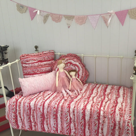 Indie Frill Cot Quilt Linens N Things Sale