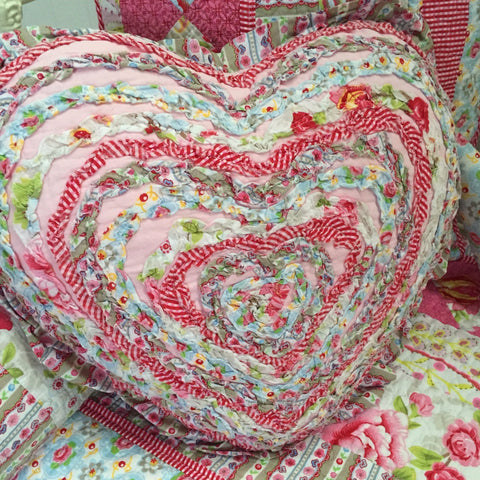 Stella Heart Shaped Decorator Cushion