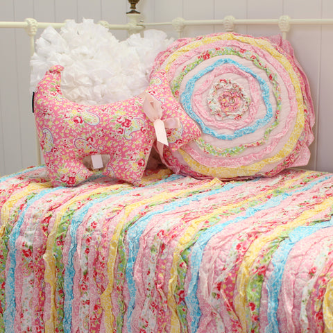 Linens N Things Millie Frill Shabby Chic Cot Quilt Sale
