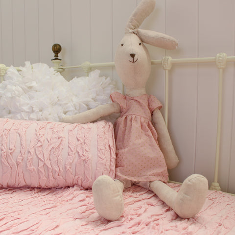 Girls Large Pink Bunny Toy Doll