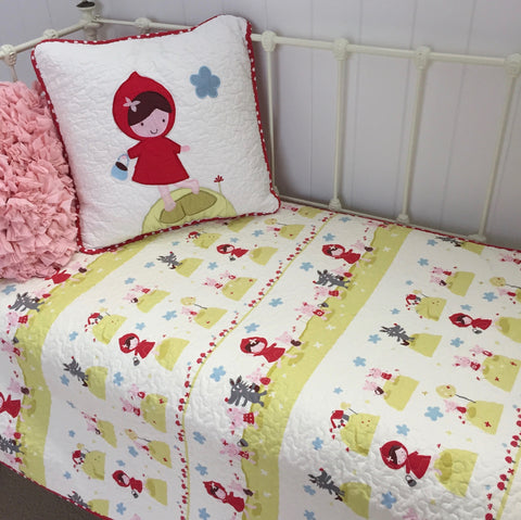 Little Red Cotton Cot Quilt