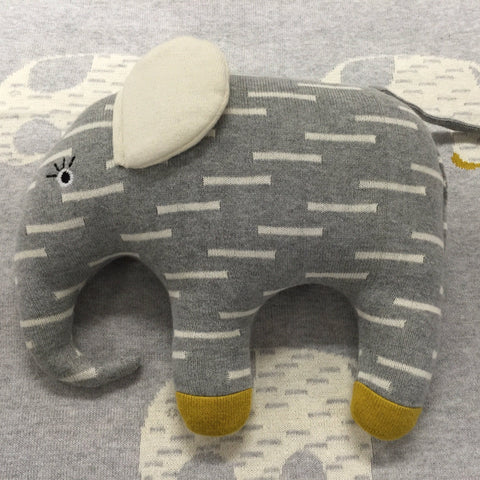 Elephant Baby Blanket & Cushion Gift Set