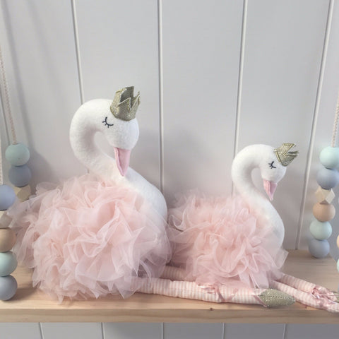 Blush Swan Toy Nursery Bedroom Decor