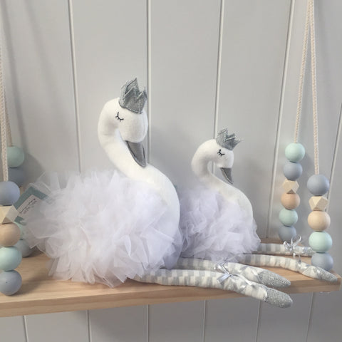 White Swan Toy Nursery Bedroom Decor