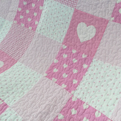 Lucy Patchwork Quilted Throw Rug