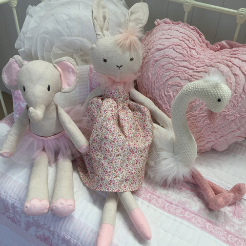 Large Pink Betty Bunny Toy Doll