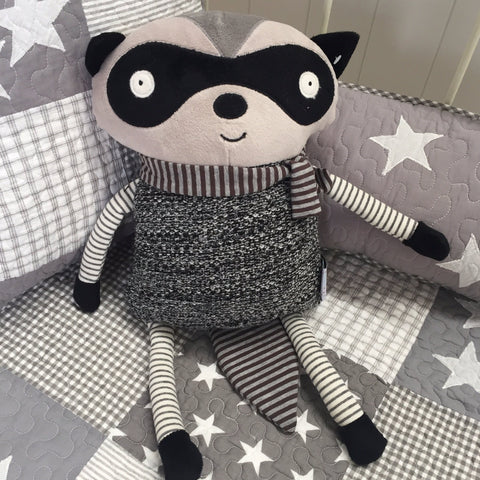 In The Woods Toy Racoon Cushion