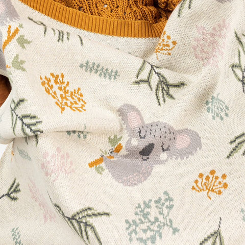 Kimberley Koala Cotton Knit Baby Blanket Indus Design