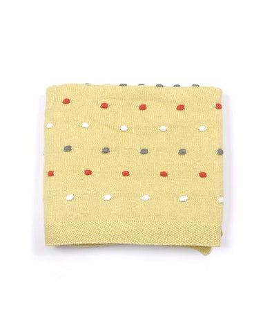 Baby Boys Girls Custard Pom Pom Blanket Sale