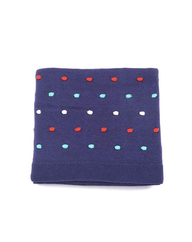 Baby Boys Blue Pom Pom Blanket Sale