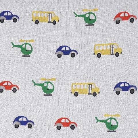 Transport Baby Boy Girl Nursery Pram Blanket