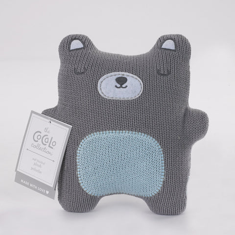 Baby Boys Knitted Bear Toy Rattle