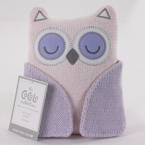 Baby Nursery Knitted Owl Toy Rattle