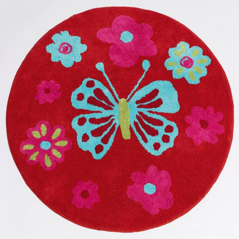 Katrina Butterfly Girls Floor Rug