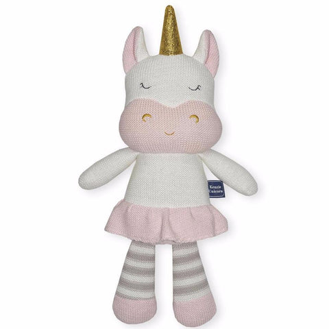 Kenzie Baby Knit Soft Toy Unicorn Doll Baby Shower Nursery Decor Gift Idea