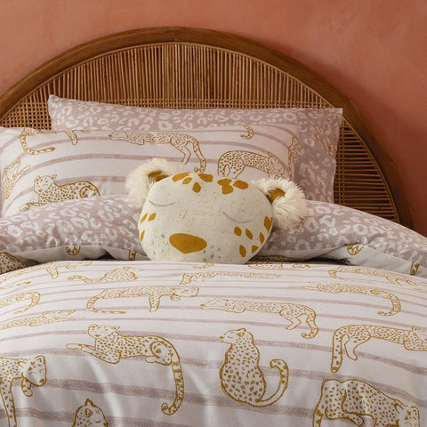Lazy Leopards KAS Kids Quilt Cover Set