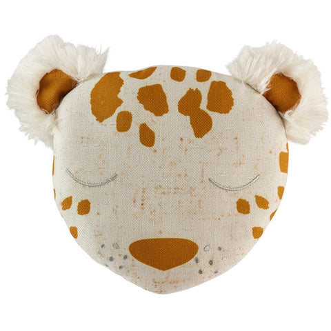 Lenny Plush Leopard Cushion