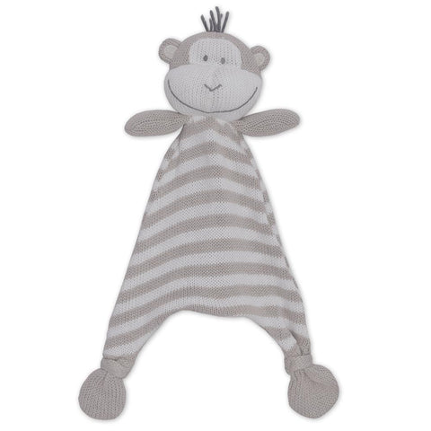 Max the Monkey Cotton Knit Baby Soother Security Blanket