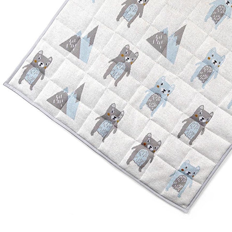 Barry Bear Baby Nursery Cot Quilt Blanket / Play Mat