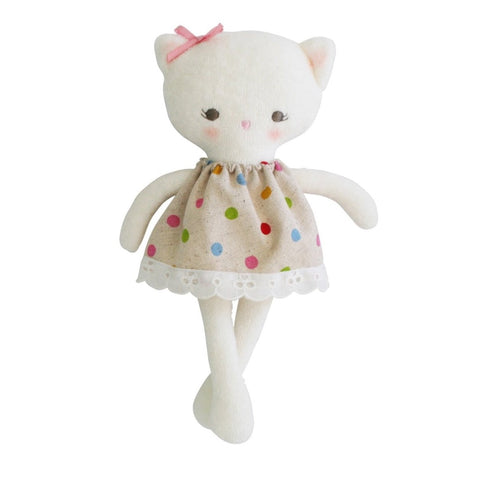 Mini Kitty Doll 21cm Small Toy Children's Cat with Gelati Spot Dress