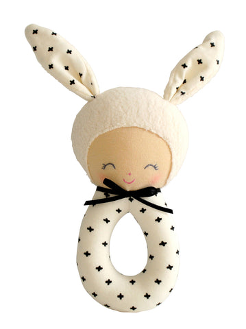 Charlie Grab Rattle Black Newborn Baby Shower Gift Idea