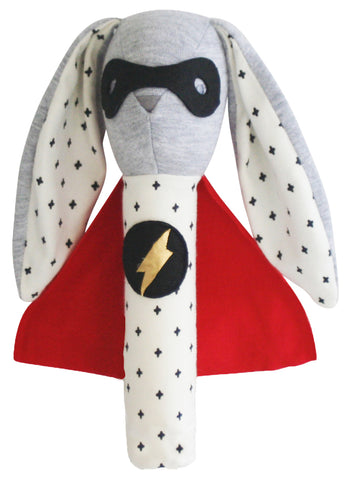 Super Hero Bunny Squeaker Toy