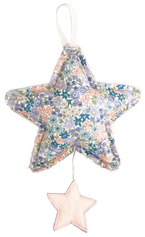 Star Musical Nursery Mobile Pink Linen & Liberty Blue