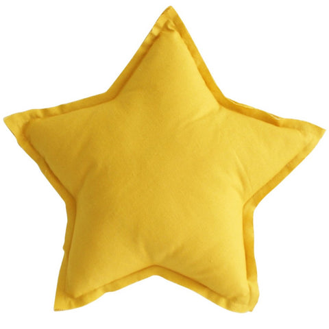 Butterscotch Linen Star Pillow Decorator Cushion
