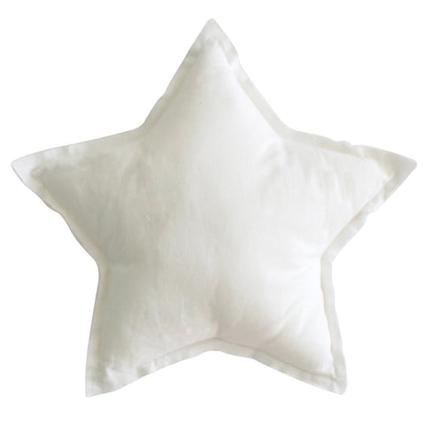 Ivory Linen Star Pillow Decorator Cushion