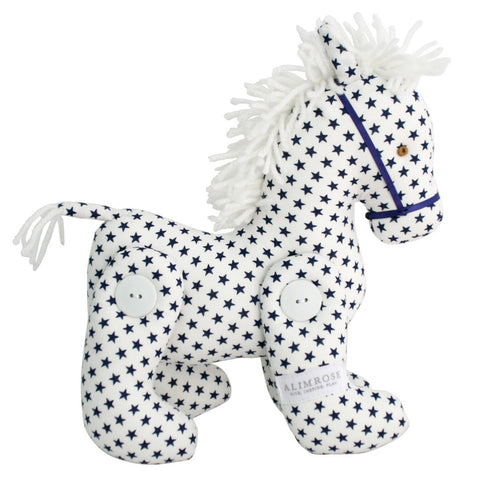 White Navy Star Horse Jointed Pony