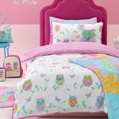 Owl Song Jiggle Giggle Kids Quilt Cover Set Sale