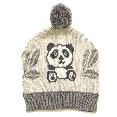 Panda Bear Cotton Knit Baby Hat Beanie Boa Boa