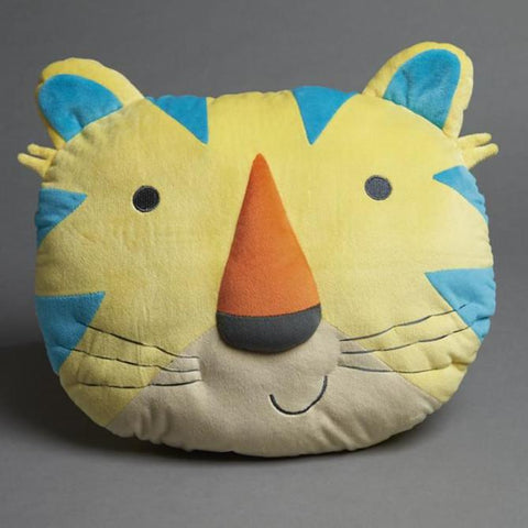 Yellow Kids Tiger Cushion