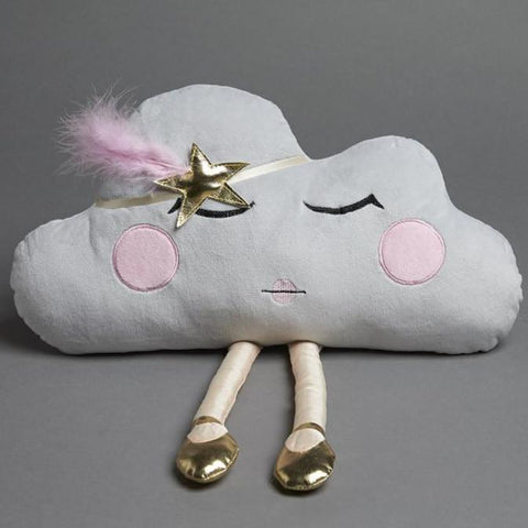 Kids Grey Cloud Swan Princess Toy Cushion