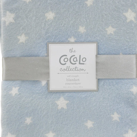 Cocalo Blue & White Stars Baby Blanket