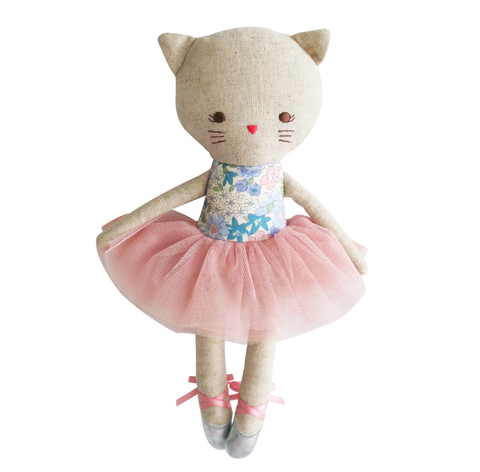 Odette Libery Blue Kitty Cat Ballerina 25cm Doll