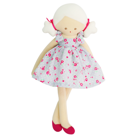 Willow  Doll 32cm with a pretty Grey Floral Dress