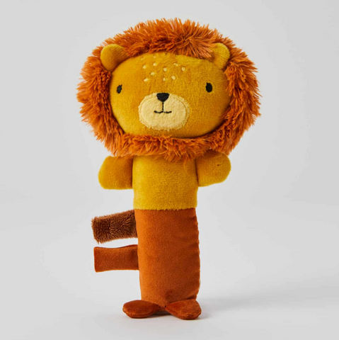 Edgar Lion Plush Baby Rattle