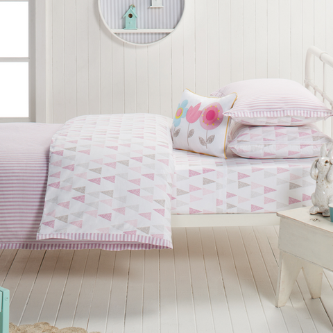 Lily Designers Choice Pink Stripe Quilt Cover Set Sale