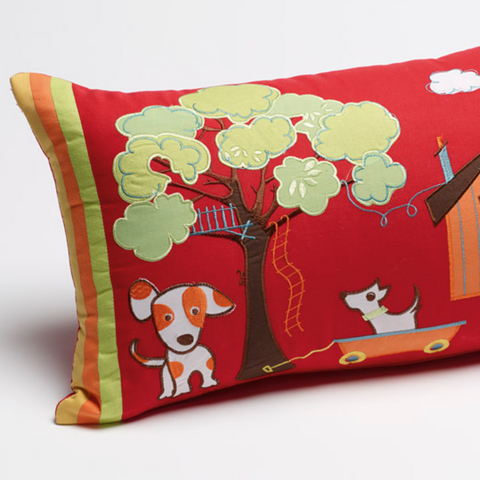 Oliver Puppy Rectangle Cushion