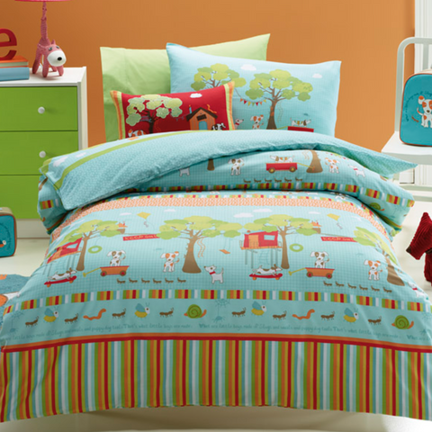 Oliver Puppy Kids Quilt Cover Set Jiggle Giggle Sale