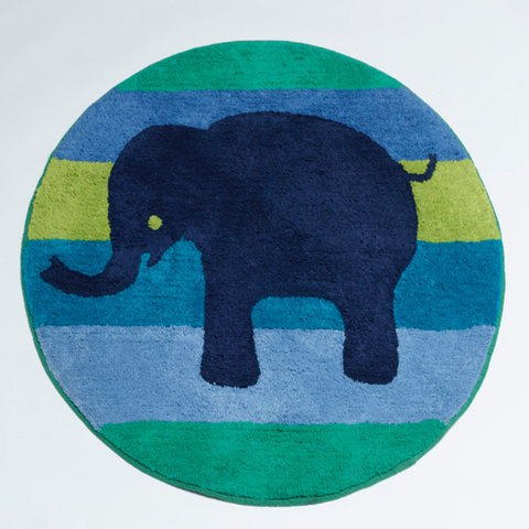 Animal Patch Floor Rug Kids Bedroom